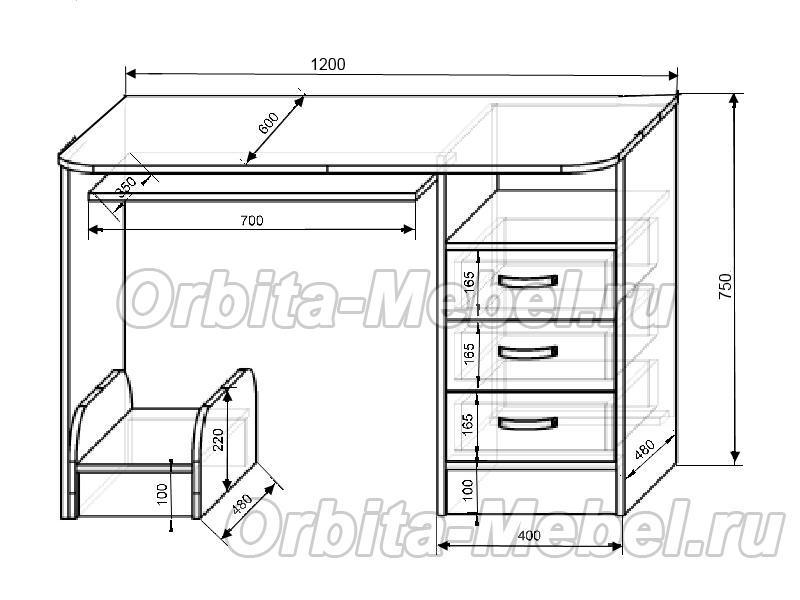 Кровать чердак Фанки Кидз 11/1 + стол письменный 13/1СВ + лестница-комод 13/8С.  Очень плохо.  Хорошо.