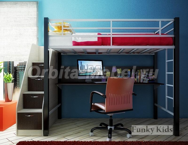 Металлическая лестница для кровати чердака отдельно
