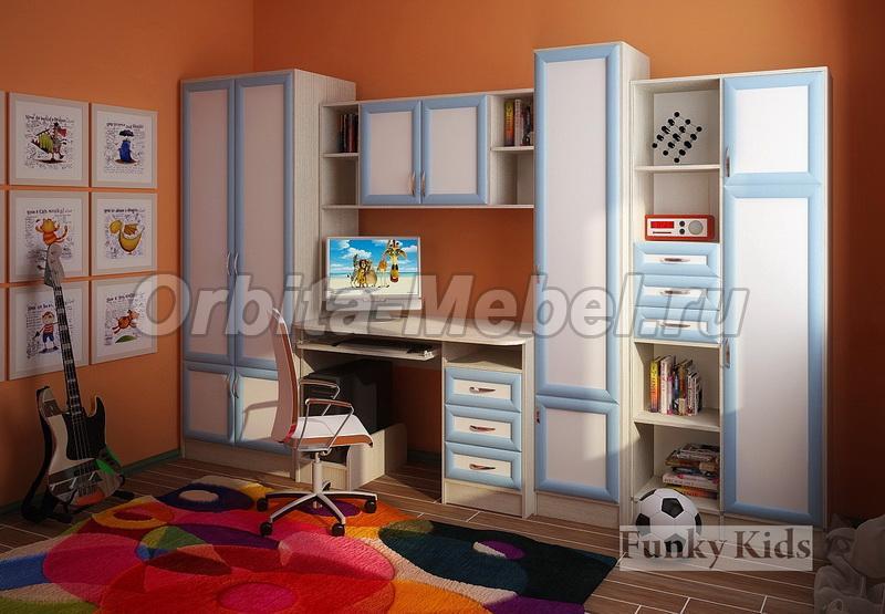 Детская модульная мебель мебель уголок школьника фанки - уго.