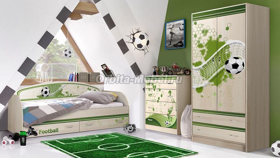 Детские спальни длЯ мальчиков футбол